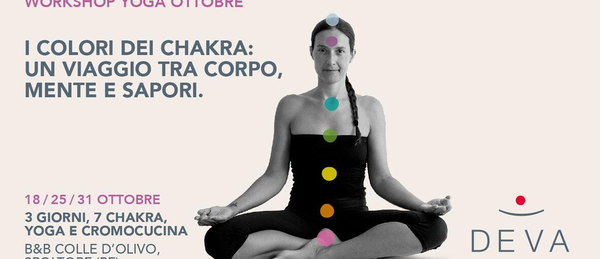 Workshop Yoga sui Chakra: un viaggio tra corpo, mente e sapori.