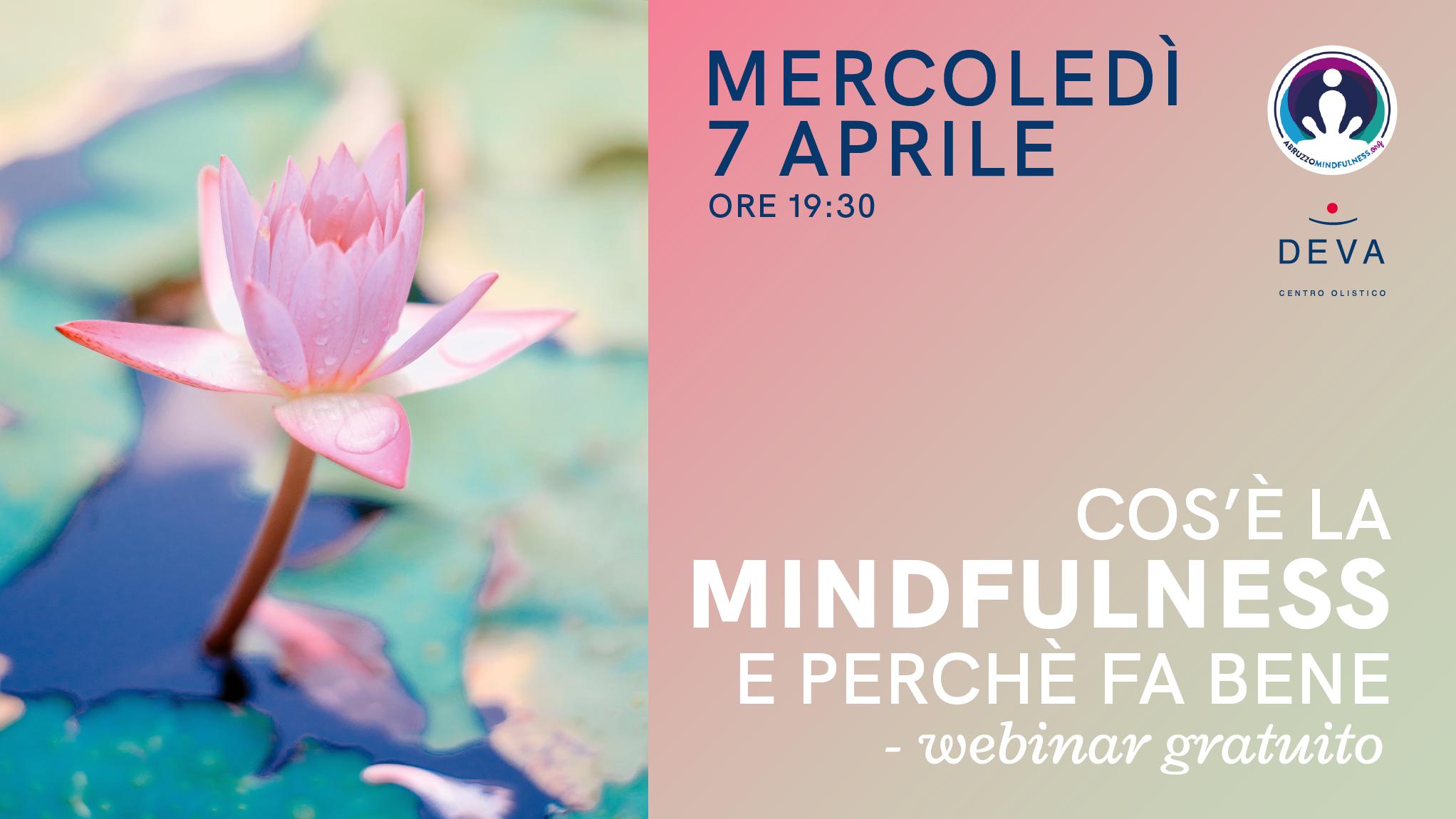 Webinar gratuito: cosa è la Mindfulness e perchè fa bene.